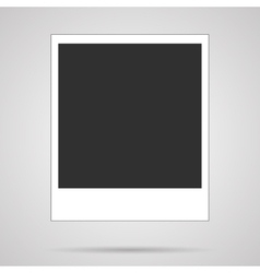 blank polaroid card on white vector image
