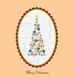 Christmas card with cameo vector