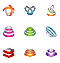 logo design elements set 66 vector image vector image