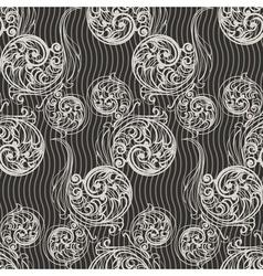 Seamless swirls background vector image vector image