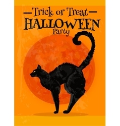 Trick or Treat Halloween party poster with text vector image vector image