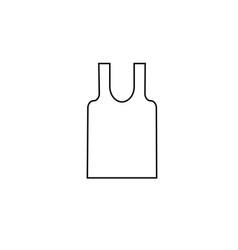 underwear shirt icon vector image