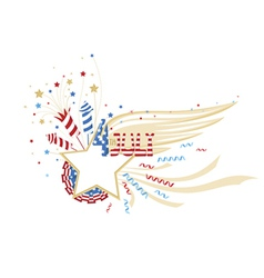 4th july decorative frame vector
