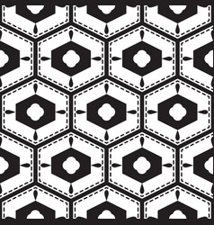 black and white mediterranean seamless tile vector image vector image