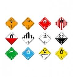 cargo hazardous signs vector image vector image