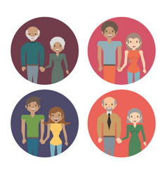 family couple members love image vector image vector image
