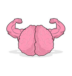 strong brain athlete powerful mind of athlete big vector image