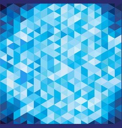 Abstract geometric blue triangle with copy space vector