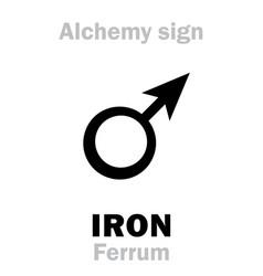 alchemy iron ferrum vector image vector image