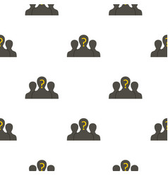 Group of business people pattern flat vector