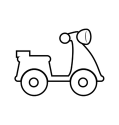 Motorcycle silhouette Transportation design vector image