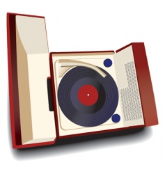 old fashioned record player vector image vector image