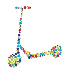 Scooter consist of dots vector image