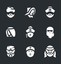 set of nomads icons vector image