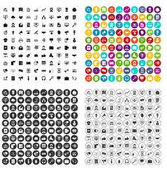 100 help desk icons set variant vector