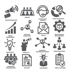advertising and marketing icons pack 2 vector image