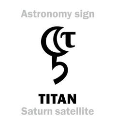 Astrology titan saturns satellite ii vector