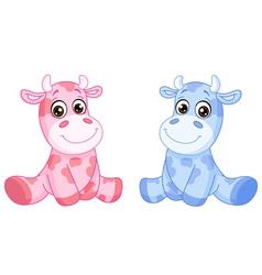 baby cows vector image