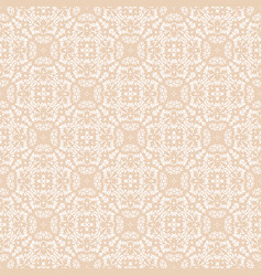 Beige lace pattern vector