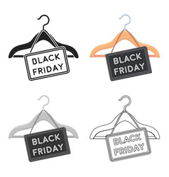 black friday sale icon in cartoon style isolated vector image