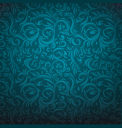 Blue lace ornament vector