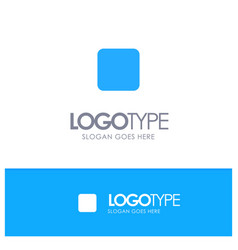Box checkbox unchecked blue solid logo with place vector