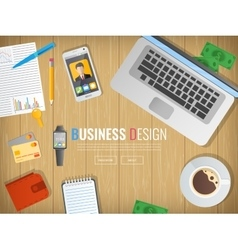 Business workplace Office Work in a team vector