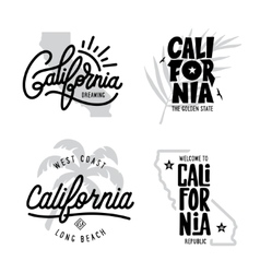 California related t-shirt vintage style graphics vector image