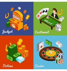Casino Isometric Set vector