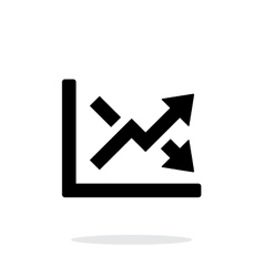 Charts icon on white background vector image