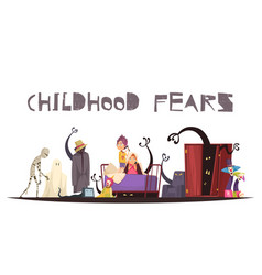 Childhood fears concept vector