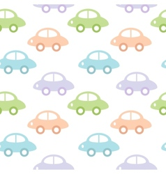 Childish background with cars for baby boy vector image