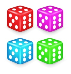 Color Box Dice 3D vector image
