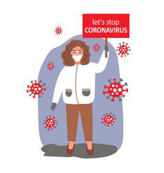 coronavirus vector image