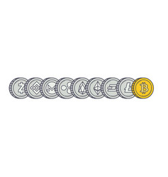 cryptocurrency coins background vector image