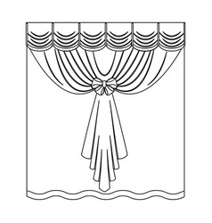 Curtains single icon in outline stylecurtains vector