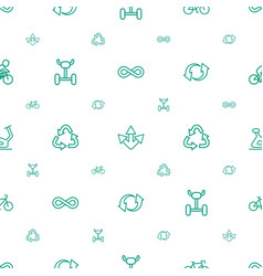 Cycle icons pattern seamless white background vector