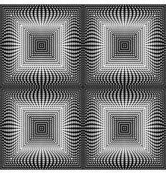 Design seamless monochrome square dots background vector