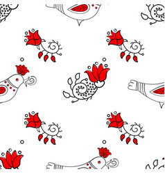 easter spring ornament seamless pattern vector image