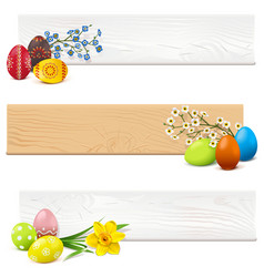 Easter wooden planks vector