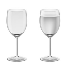empty wineglass and a wineglasses with water vector image