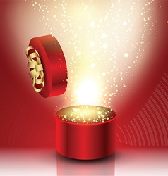 Exploding gift box vector