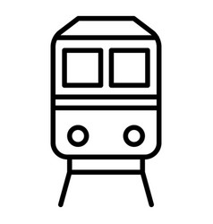 Export train icon outline style vector