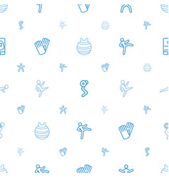 fit icons pattern seamless white background vector image