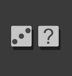 Flat icon design collection dice and question vector