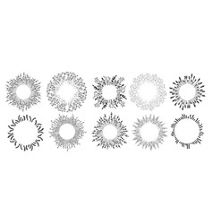 floral frames and ornaments with flowers empty vector image