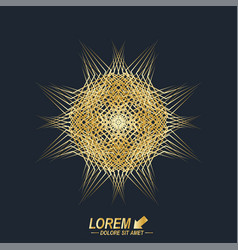 fractal golden element virtual background vector image