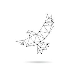 Geometric dove design silhouette vector