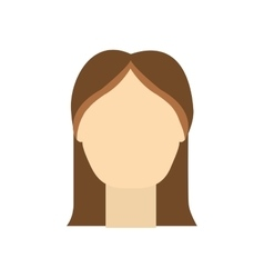 Girl woman female head person icon vector
