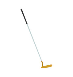 Golf club putter icon sport isolated ball vector